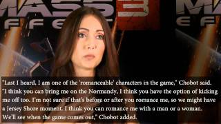 Mass Effect 3 Romance - Possible Jessica Chobot / Diana Allers Romance   WikiGameGuides