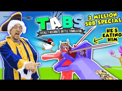 EATING PEOPLE Totally Accurate Battle Simulator 1 3 Million Subs FGTEEV TABS Gameplay Skit