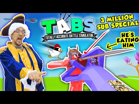 EATING PEOPLE!! Totally Accurate Battle Simulator #1!   3 Million Subs (FGTEEV TABS Gameplay / Skit)