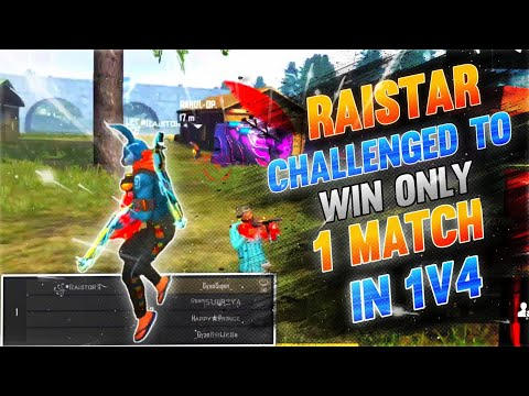 Can Raistar Do It Challenged to Win 1 SINGLE Match In 1v4 Custom 🔥