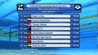 100 Butterfly Men Fina/Arena World Cup 2012 Doha