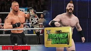 WWE Battleground 2015 - Brock Lesnar Wins WWE Title & Sheamus Cashes Money in The Bank!