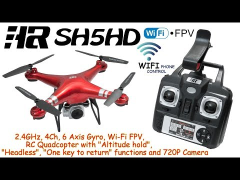 Xxx Mp4 HR SH5HD 2 4GHz 4Ch 6 Axis Gyro Wi Fi FPV RC Quadcopter Altitude Hold Headless 720P Cam RTF 3gp Sex