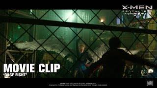 X-Men: Apocalypse ['Cage Fight' Movie Clip in HD (1080p)]