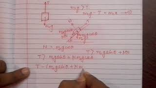 Physics : acceleration and tension of bodies connected by a string..Part 3