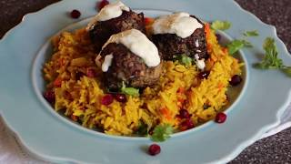 PERSIAN JEWEL RICE WITH LAMB MEAT BALLS