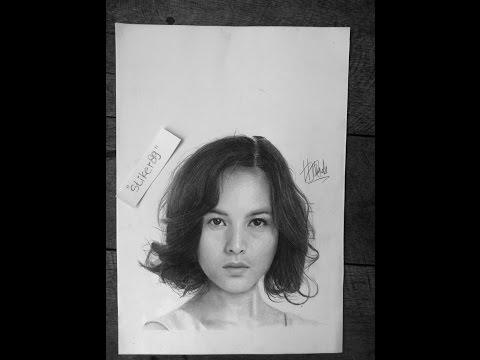 How to Draw Female Face for Beginer / Cara menggambar wajah untuk pemula - chelsea islan face