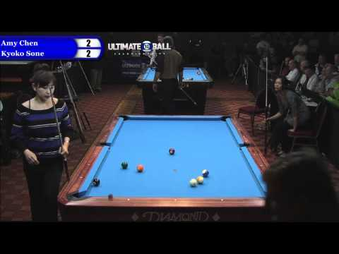 Kyoko Sone vs Amy Chen at the Ultimate 10-Ball Championships