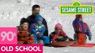 Sesame Street: Kids Sledding in the Snow