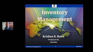 Webinar on Inventory Management