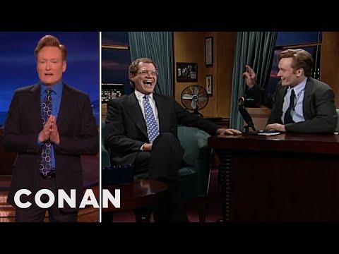 Conan Says Thank You To David Letterman  - CONAN on TBS