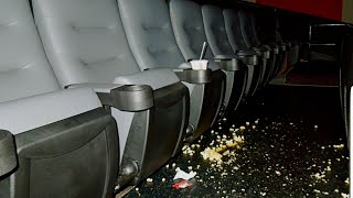 At the movies...