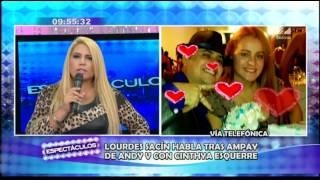 Lourdes Sacín dice que ya no necesita más pruebas para dejar a Andy V