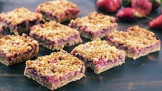 Strawberry Oat Crumble Bars Recipe