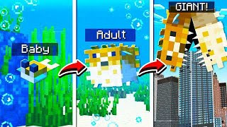 LIFE OF A PUFFERFISH IN MINECRAFT!