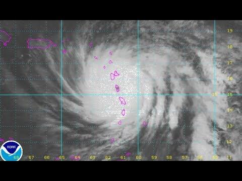 Xxx Mp4 HURRICANE MARIA CATEGORY 5 EYE OVER DOMINICA HEADING FOR VIRGIN ISLAND PUERTO RICO JOSE MOVES NORTH 3gp Sex