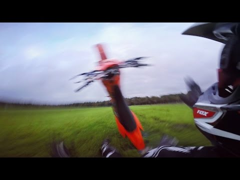Epic Wheelie Fail - KTM EXC 125