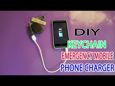 DIY an Keychain Emergency Mobile Phone Charger | Supper Mini Power Bank