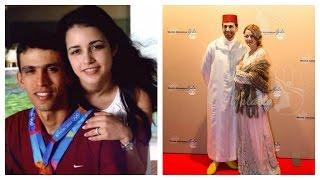 صور العداء المغربي العالمي هشام الكروج مع زوجته صور حصرية تراها لأول مرة !!!!