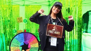 GIVING OUT FREE HUGS AT CARNIVAL OF LOVE