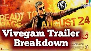 Vivegam Official Trailer Break down   Ajith   Siva   Kajal   Akshara