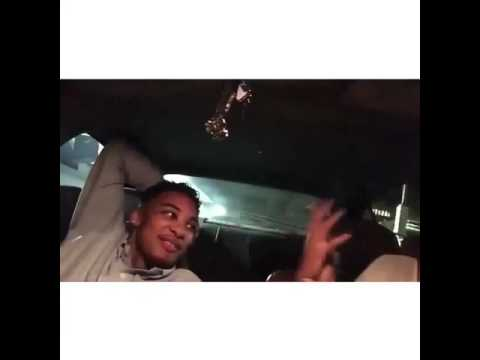 Cute couple in car