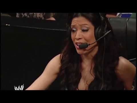 WWE Raw Victoria vs Candice Michelle (melina on commentary)