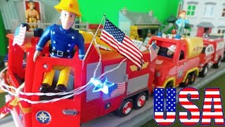 4th July Fire Trucks for Children, Fire engines for kids & Fire Truck Party Parade with Fireman Sam