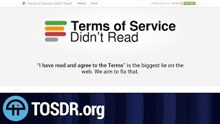 TOSDR.org is a TL;DR for Terms of Service Agreements