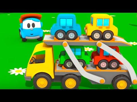 Toy Trucks Tutitu style Leo JUNIOR S CAR TRANSPORTER Kid s 3D Educational Construction Cartoons