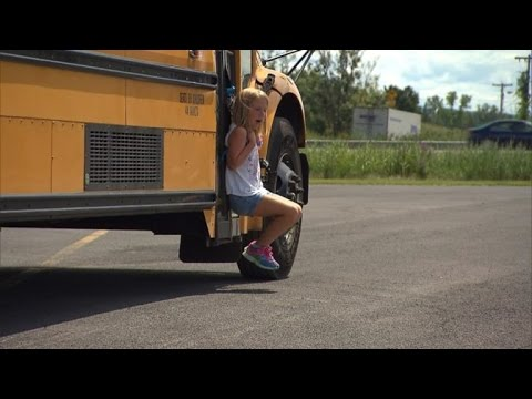 Watch 7 Year Old Girl Get Dragged By Bus After Backpack Gets Stuck in Door