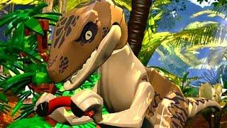 LEGO Jurassic World (PS Vita) Walkthrough - Chapter 3 Raptor Pack, Kitchen Escape & Main Hall