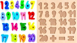 Learn To Count with PLAY DOH Numbers 1 to 20 Squishy Glitter Foam | Learn Colors for kids Collection