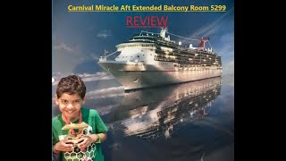 Carnival Miracle Extended Balcony Aft Room 5299