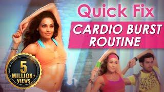Quick Fix Cardio Burst Routine - Fat Burning Exercise - Bipasha Basu Love Yourself