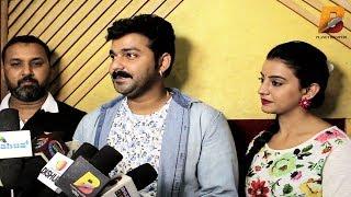 New Film के मुहूर्त में शादी के बाद पहला Interview - Pawan Singh & Akshra Singh