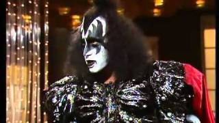 Gene Simmons and Ace Frehley on the don lane show a suprise visit 1980