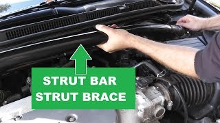 How To Remove A Strut Bar or Strut Brace From Your Vehicle