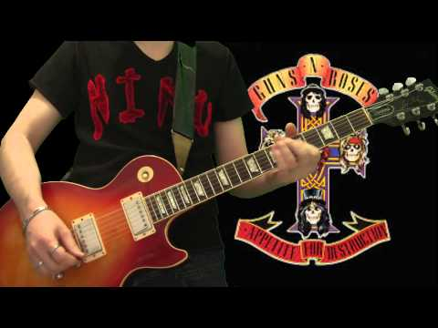 Guns N' Roses - Welcome To The Jungle (full guitar cover)