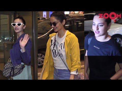 Alia Bhatt, Sonakshi Sinha & Manushi Chhillar spotted at Mumbai Airport