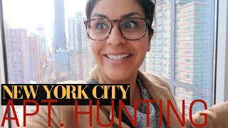 NYC APARTMENT HUNTING - ONE Bedroom  |  VLOG 3, 2018  |  FLY WITH STELLA
