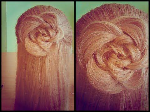 Как сделать прическу цветок на волосах