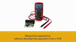Measuring capacitance without desoldering capacitors from a PCB