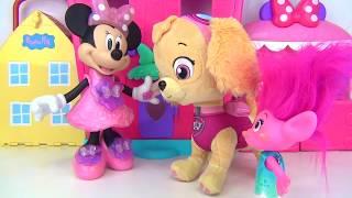 TIN Purse Containers: TROLLS Poppy, Disney Minnie Mouse, Paw Patrol Skye Toy Surprises / TUYC