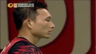 R16 - MS - Sony Dwi Kuncoro vs Taufik Hidayat - 2012 Djarum Indonesia Open