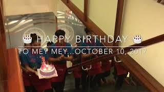 SAMNANG SRAS TEPY ( MEY MEY)'s Birthday , October 10, 2017