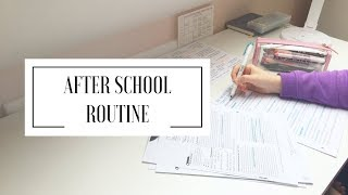 AFTER SCHOOL ROUTINE