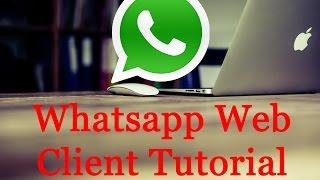 WhatsApp Web Client Tutorial