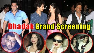 Dhadak Grand Screening With Bollywood Stars | Jhanvi ❤️ Ishaan | Dhadak