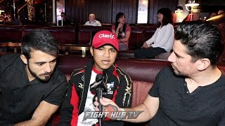 "ROMAN GONZALEZ ""RUNGVISAI BEAT ME FAIR! THATS BOXING! HAVE CONFIDENCE IN ME W/GOD WE WILL RETURN!"""